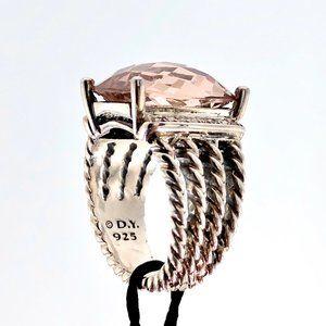 David Yurman 16x12mm Wheaton Morganite Ring